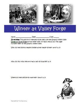 Graphic History: Winter at Valley Forge George Washington Activity