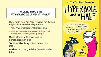 Graphic Novel/ Blog Writing Unit Hyperbole and A Half All-In-One Lesson PPT