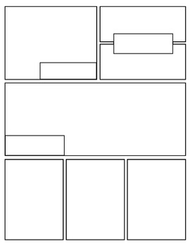graphic novel template printable