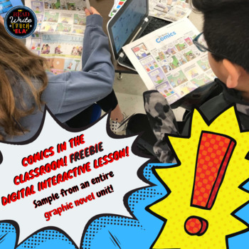 Graphic Novel: Newspaper Comics Analysis Digital Interactive Google Slide FREE
