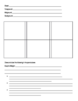 Graphic Novel Notes (Goes with Graphic Novel PowerPoint)