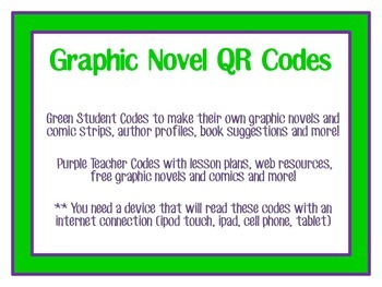 Graphic Novel QR Codes