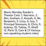 Graphic Novel Reader's Theater- Manic Monday