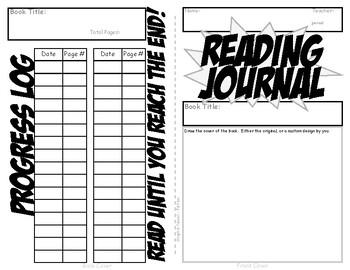 Graphic Novel Reading Journal