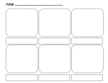 graphic novel storyboard template by history teacher 1028 tpt