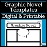 Graphic Novel Template for Reading or Writing