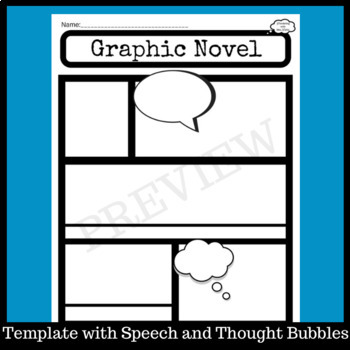 graphic novel template for reading or writing by wondering with mrs
