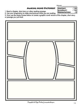 Graphic Novel Templates for Reading Comprehension