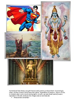 Graphic Novel Unit supplement - Heroes throughout history resource