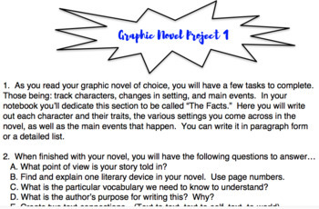 Graphic Novel Unit Study (Differentiated)