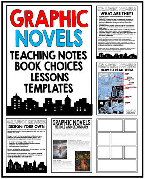 GRAPHIC NOVELS teaching resource unit package