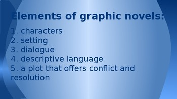 Graphic Novels Powerpoint Presentation
