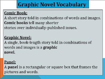 Graphic Novels Vocabulary Handout