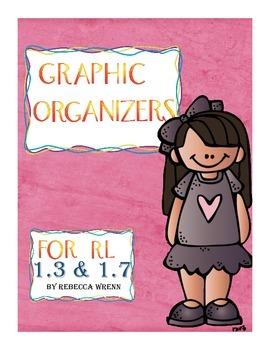 No Prep Reading Response Graphic Organizers RL 1.3 RL 1.7