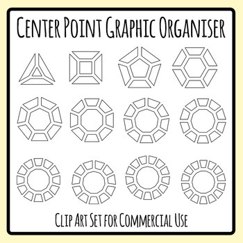 Graphic Organiser Template - Central Point Blank Template Clip Art Set