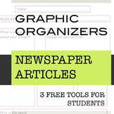 Graphic Organizers (FREE):3 Graphic Organizers for a Newspaper Research Project