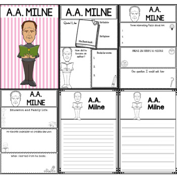 Graphic Organizer : A.A. Milne : Awesome Authors
