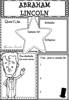 Graphic Organizer : Abraham Lincoln