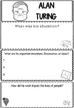 Graphic Organizer : Alan Turing