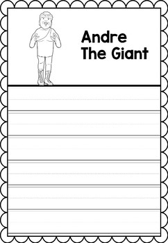 Graphic Organizer : Pro Athletes: Andre The Giant