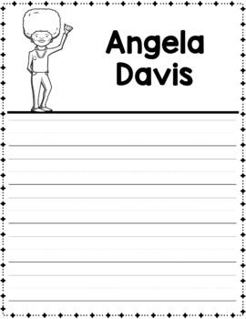 Graphic Organizer : Angela Davis - African American Black Women Leaders