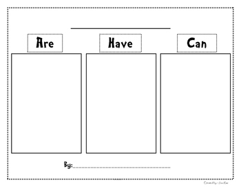 Graphic Organizer Are Have Can