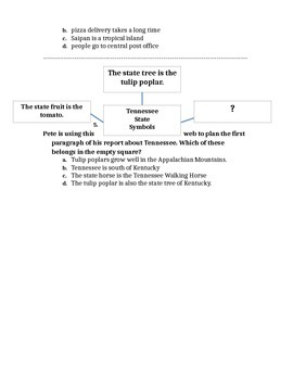 Graphic Organizer Assessments
