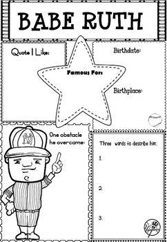 Graphic Organizer : Babe Ruth