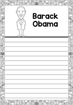 Graphic Organizer : Barack Obama - Inspiring African American Figures