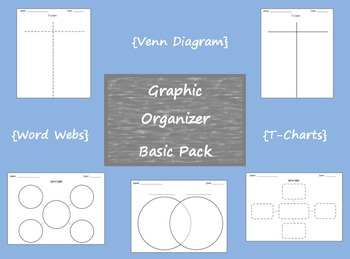 Graphic Organizer Basic Pack