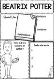 Graphic Organizer : Beatrix Potter : Awesome Authors
