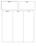 Graphic Organizer Beginning, Middle, End w/ Character, Set