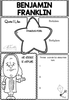Graphic Organizer : Benjamin Franklin