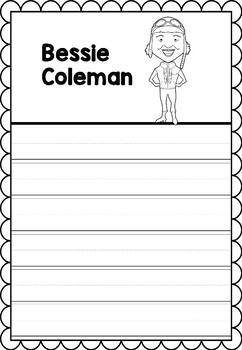 Graphic Organizer : Bessie Coleman - Inspiring African American Figures