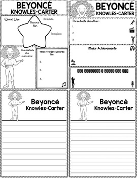 Graphic Organizer : Beyonce Knowles Carter - World Leaders and Cultural Icons