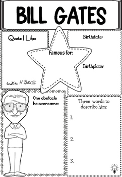 Graphic Organizer : Bill Gates