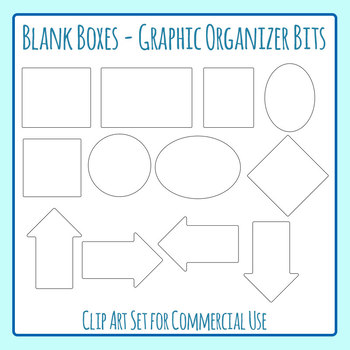 Graphic Organizer Bits - Blank Boxes Clip Art for Commercial Use