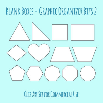 Graphic Organizer Bits - Blank Shapes Clip Art for Commercial Use