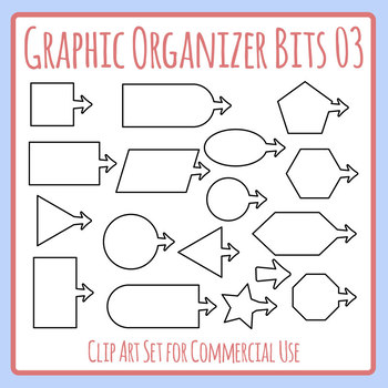 Graphic Organizer Bitz - Shapes with Arrows Blank Templates Clip Art Set