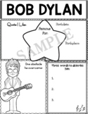 Graphic Organizer : Bob Dylan - World Leaders and Cultural Icons