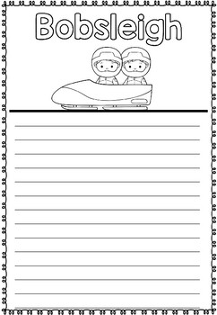 Graphic Organizer: Bobsleigh : Winter Olympics 2018, Winter Sports, Bobsled