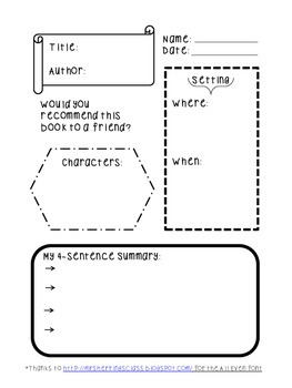 Graphic Organizer- Book Review