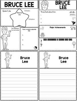 Graphic Organizer : Bruce Lee