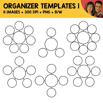 Graphic Organizer Bubble Template Clipart