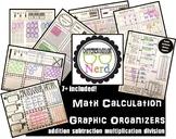 Graphic Organizer Bundle: addition, subtraction, multiplic