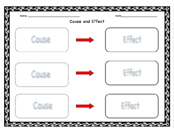 Graphic Organizer Cause and Effect-All Subjects