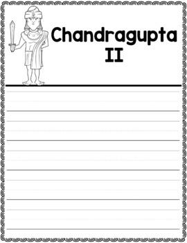 Graphic Organizer : Chandragupta II - Ancient Civilizations India