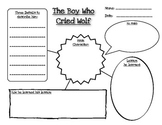 """Graphic Organizer: Character Analysis for """"The Boy Who Cried Wolf"""""""