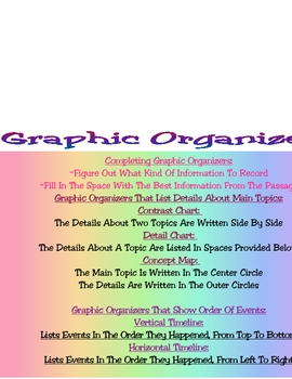 Graphic Organizer Chart ELA English Language Arts NYS Test Prep