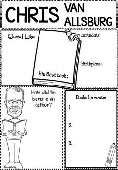 Graphic Organizer : Chris Van Allsburg : Awesome Authors